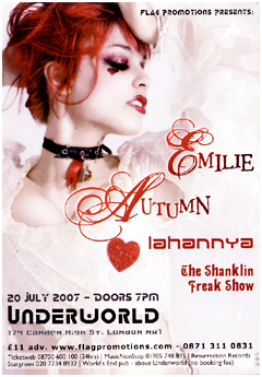 emilie Autumn flyer