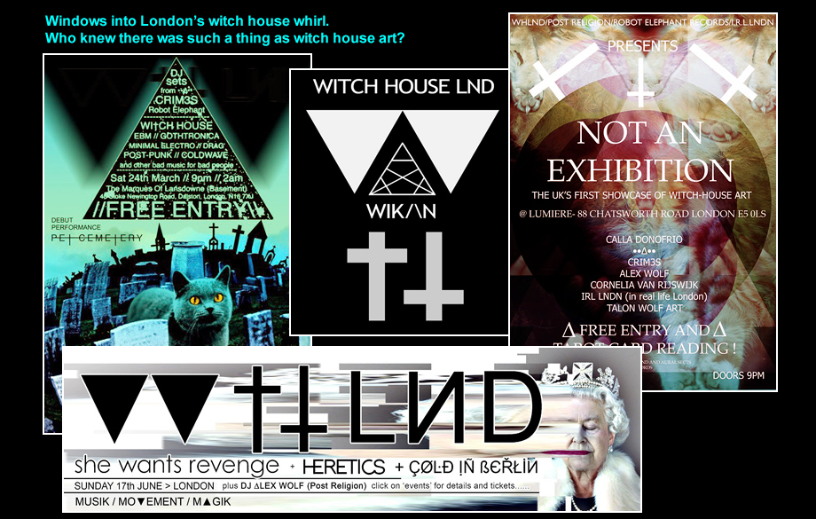 Witch house flyers...