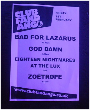 Bad For Lazarus poster